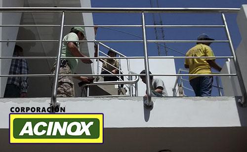 Barandas en acero Inox