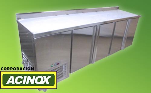 Mesa Refrigerada de 4 puertas