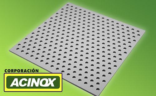 Plancha Perforada en Acero Inox